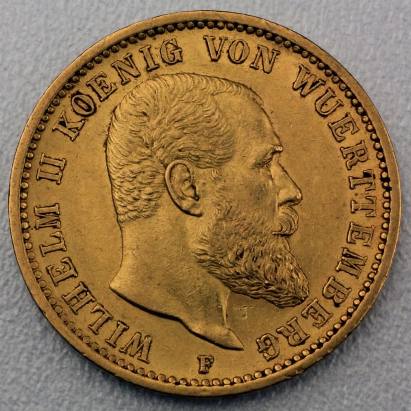Reichsgoldmünze 20 Mark Wilhelm Ii Württemberg