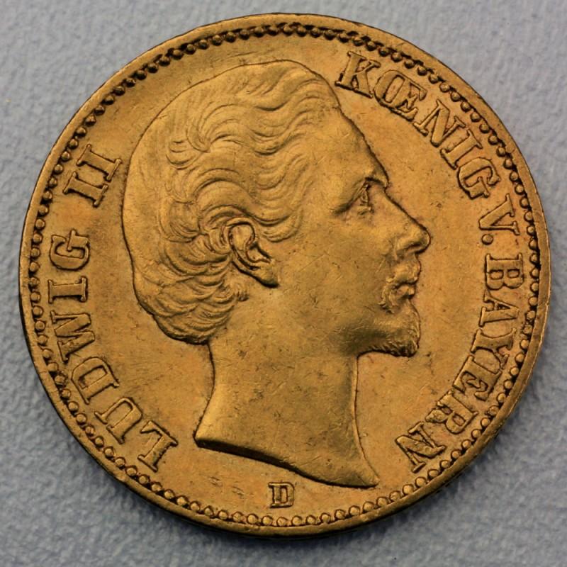 Goldmünze 20 Mark Reichsgold Ludwig Ii Bayern