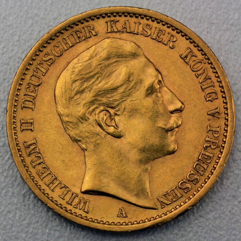 Goldmünze 20 Mark Wilhelm Ii Preußen