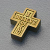"Kreuz Anhänger 18K / 750 Gold ""I Believe in You"""