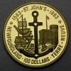 """Goldmünze 100 Dollar """"St. John s 1983"""" (Kanada)"""