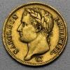 """Goldmünze """"40 Francs/Napoleon I. mit Kranz"""" (F)"""