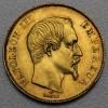 "Goldmünze ""50 Francs/Napoleon III. ohne Kranz"" (F)"