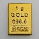 Goldbarren 1g CombiBar