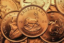 Krügerrand Goldmünzen (Zahlseite)