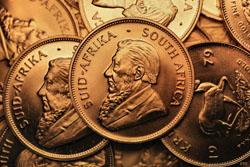 Krügerrand Goldmünzen (Kopfseite)
