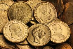 verschiedene Reichsgoldmünzen