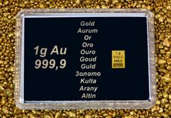 1g AU Goldbarren