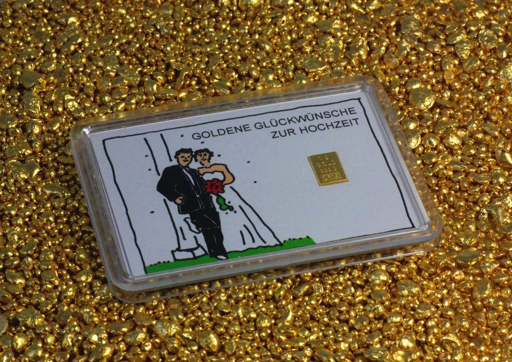 1g Goldtafel Zur Hochzeit