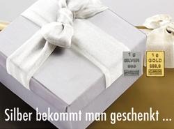 1g Goldbarren und Silberbarren des ESG CombiBar als Belohnung für Fleiß und erbrachte Leistung