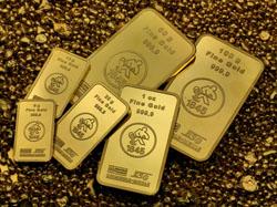 verschiedene Goldbarren von 1-100g