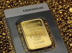 1 oz Goldbarren von Hereaus im Blister aus Feingold geprägt