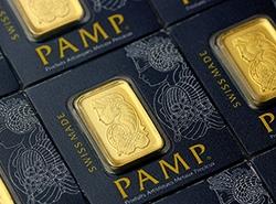 Fortuna Multicard Gold von PAMP Closeup auf die kleinen Barren