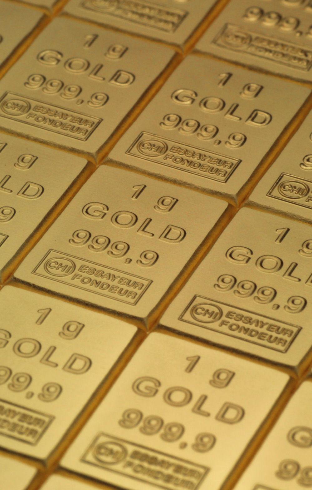 Tafelbarren aus Gold