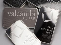 Palladiumbarren in 100g Palladium von Valcambi