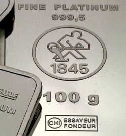 100g Platinbarren