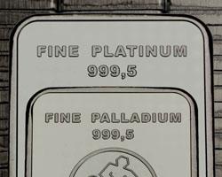 Platinbarren-Palladiumbarren