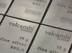 Valcambi CombiBar in Silber 10g Barren als Cose-up