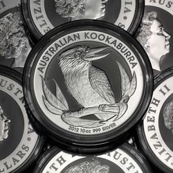 10oz Kookaburra Silbermünze