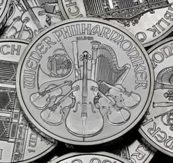 Wiener Philharmoniker Münze (Kopfseite)