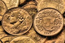 Schweizer Vreneli Goldmünze