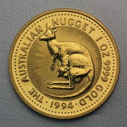 Australian Nugget Kaenguru Goldmünze