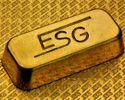 Zu sehen ist ein Goldbarren der ESG