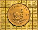Goldbarren und Goldmünze